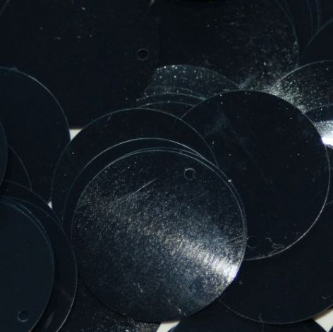 DICONTINUED Large 25mm Metallic Midnight Blue Sequins x 75. BUY 1 GET 1 FREE